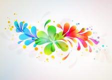 Floral αφηρημένη ανασκόπηση. Διανυσματική απεικόνιση Στοκ Εικόνα