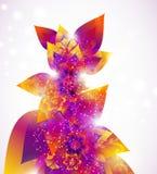 Floral αφηρημένη ανασκόπηση Στοκ Εικόνα