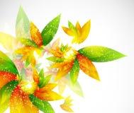 Floral αφηρημένη διανυσματική ανασκόπηση Στοκ Εικόνα