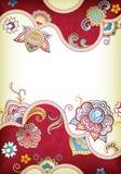 floral γάμος ανασκόπησης απεικόνιση αποθεμάτων