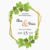 Floral γαμήλια πρόσκληση και κομψή γαμήλια πρόσκληση διανυσματική απεικόνιση