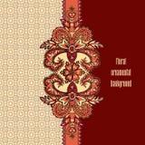 Floral γεωμετρική διακόσμηση λουλουδιών σχεδίων ασιατική Στοκ Εικόνες