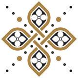 Floral γεωμετρική ταπετσαρία σχεδίων διανυσματική απεικόνιση