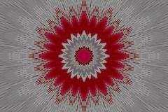 Floral γεωμετρικό καλειδοσκόπιο mandala σχεδίων ακτινοβολημένοι απεικόνιση αποθεμάτων