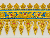floral γλυπτό Ταϊλανδός Στοκ φωτογραφία με δικαίωμα ελεύθερης χρήσης