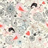 floral γραφική σύσταση ελεφάντ&om Στοκ Φωτογραφίες