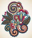 floral δερματοστιξία σχεδίο&upsilon Στοκ Εικόνα
