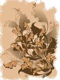 floral διάνυσμα ανασκόπησης Στοκ εικόνες με δικαίωμα ελεύθερης χρήσης