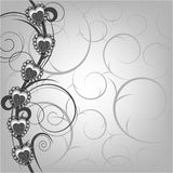 floral διάνυσμα καρδιών ανασκόπ&e διανυσματική απεικόνιση