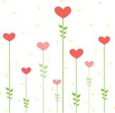 floral διάνυσμα καρδιών σχεδίο& Στοκ Εικόνες