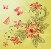 floral διάνυσμα πεταλούδων αν&alp Στοκ φωτογραφία με δικαίωμα ελεύθερης χρήσης