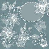 floral διάνυσμα πεταλούδων αν&alp Στοκ εικόνα με δικαίωμα ελεύθερης χρήσης