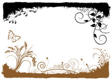 floral διάνυσμα πλαισίων διανυσματική απεικόνιση