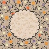 floral διάνυσμα προτύπων πλαισί&ome Στοκ Φωτογραφίες