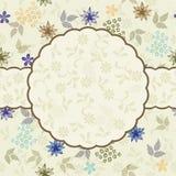 floral διάνυσμα προτύπων πλαισί&ome Στοκ εικόνα με δικαίωμα ελεύθερης χρήσης