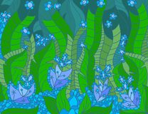 Floral διάνυσμα σκηνής χρωμάτων καλλιτεχνικά απεικόνιση αποθεμάτων