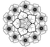 floral διάνυσμα συμβόλων glyph ανθ&omicr Στοκ Φωτογραφία