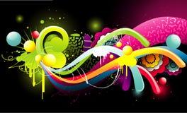 floral διάνυσμα χρώματος απεικόνιση αποθεμάτων