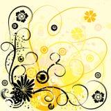 floral διάνυσμα grunge ανασκόπησης Στοκ Εικόνες