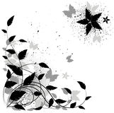 floral διάνυσμα grunge ανασκόπησης Στοκ εικόνα με δικαίωμα ελεύθερης χρήσης