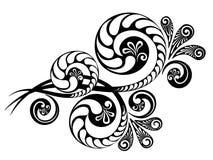 Floral διακλαδιμένος διακόσμηση διανυσματική απεικόνιση