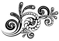 Floral διακλαδιμένος διακόσμηση ελεύθερη απεικόνιση δικαιώματος