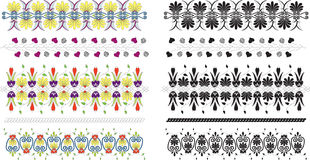 floral διακοσμήσεις συλλογής Στοκ Φωτογραφία
