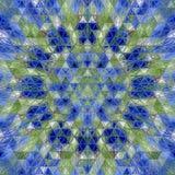 Floral διακοσμητικός αριθμός κεραμιδιών τριγώνων καλειδοσκόπιων Στοκ Εικόνες