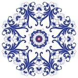 floral διακοσμητικός κύκλος προτύπων Στοκ εικόνα με δικαίωμα ελεύθερης χρήσης