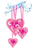 floral διακόσμηση καρδιών τυποποιημένη Στοκ εικόνες με δικαίωμα ελεύθερης χρήσης