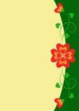 floral διακόσμηση καρδιών απεικόνιση αποθεμάτων