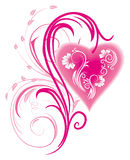 floral διακόσμηση καρδιών 3 τυπ&omicron Στοκ Εικόνα