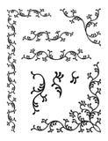 floral διακόσμηση στοιχείων Στοκ Εικόνες
