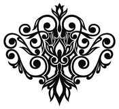 Floral διακόσμηση στο ύφος μπαρόκ, damask απεικόνιση αποθεμάτων
