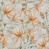 Floral διανυσματικό σχέδιο Watercolor Στοκ φωτογραφία με δικαίωμα ελεύθερης χρήσης