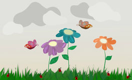 Floral εικόνα υποβάθρου για σχετικούς με τους τα παιδιά ιστοχώρους Στοκ φωτογραφία με δικαίωμα ελεύθερης χρήσης