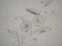 Floral εκλεκτής ποιότητας ύφασμα μοτίβου Στοκ Φωτογραφίες