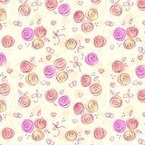 floral ελαφρύ άνευ ραφής διάνυσ&m Στοκ Φωτογραφίες