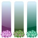 Floral εμβλήματα που τίθενται κάθετα Στοκ φωτογραφίες με δικαίωμα ελεύθερης χρήσης
