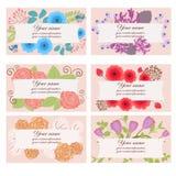 Floral επαγγελματικές κάρτες ελεύθερη απεικόνιση δικαιώματος