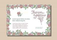 Floral επαγγελματική κάρτα Η άνευ ραφής σύσταση είναι πλήρης Στοκ Φωτογραφίες