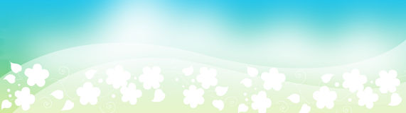 Floral επικεφαλίδα, φύλλωμα ανοίξεων ελεύθερη απεικόνιση δικαιώματος