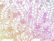 Floral ευθυγραμμισμένη καλλιτεχνικά χρώματα σκηνή κλίσεων ελεύθερη απεικόνιση δικαιώματος