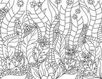 Floral ευθυγραμμισμένο καλλιτεχνικά διάνυσμα σκηνής απεικόνιση αποθεμάτων