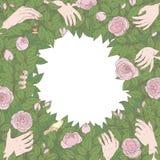 Floral ευχετήρια κάρτα Στοκ φωτογραφία με δικαίωμα ελεύθερης χρήσης