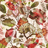 floral ελαφρύ πρότυπο άνευ ραφή&sigmaf Συρμένο χέρι σκηνικό ανασκόπηση ζωηρόχρωμη Το σχέδιο μπορεί να χρησιμοποιηθεί για το ύφασμ Στοκ Φωτογραφίες