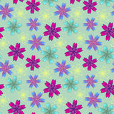 Floral ζωηρόχρωμο σχέδιο Στοκ φωτογραφία με δικαίωμα ελεύθερης χρήσης