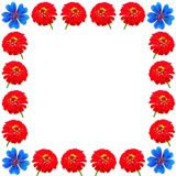 Floral ζωηρόχρωμο σύνολο υποβάθρου σχεδίων στοκ εικόνα