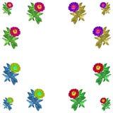 Floral ζωηρόχρωμο σύνολο υποβάθρου σχεδίων στοκ εικόνες με δικαίωμα ελεύθερης χρήσης