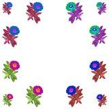 Floral ζωηρόχρωμο σύνολο υποβάθρου σχεδίων στοκ φωτογραφία με δικαίωμα ελεύθερης χρήσης